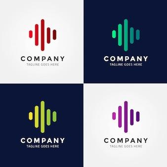 Signal icon logo design template