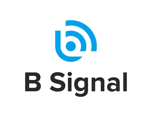 문자 b가 있는 신호 wifi