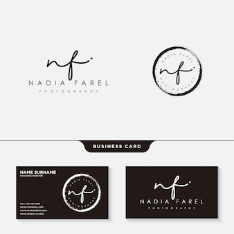 Signature logo or business card template