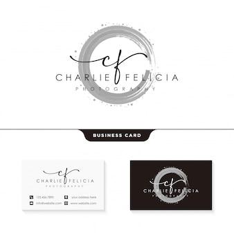 Шаблон дизайна логотипа подписи