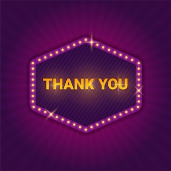 Signboard with text of thank you
