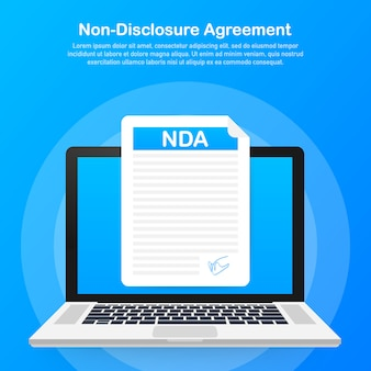 Signing nda. non disclosure agreement document