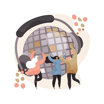 Silent disco abstract concept illustration