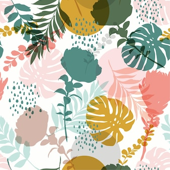 Silhouette Abstract seamless pattern