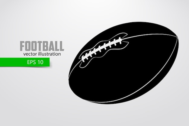 Silhouette of an american football ball