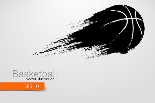 Silhouette of a basketball ball.  illustration