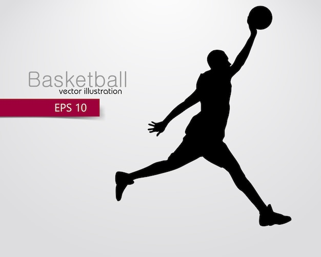 Silhouette of a basketball player