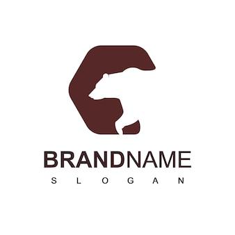 Silhouette bear logo design inspiration