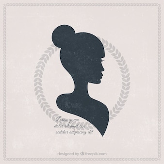 Silhouette of a beautiful woman