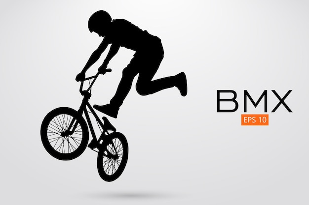 Silhouette of a bmx rider