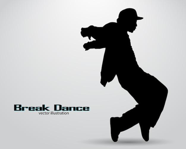 Silhouette of a break dancer