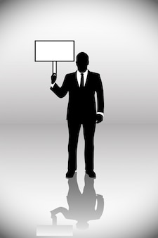 Silhouette of business men