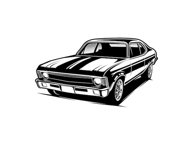 Силуэт автомобиля или черно-белый