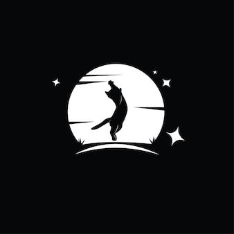 실루엣 고양이 일러스트 디자인