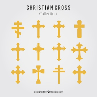 Silhouette christian cross collection