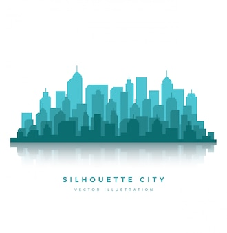 Silhouette city background