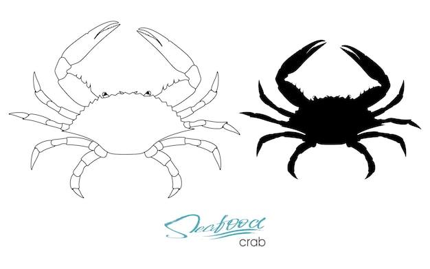 Silhouette crab linear silhouette crab