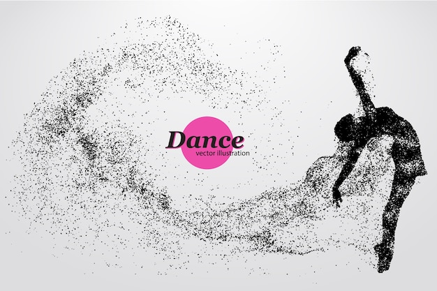 Silhouette of a dancing girl illustration