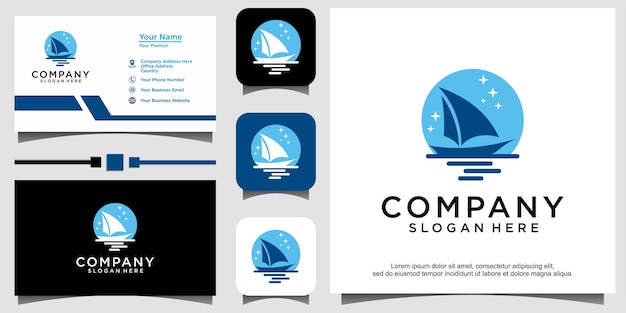 Silhouette of dhow logo design traditional sailboat from asia africa