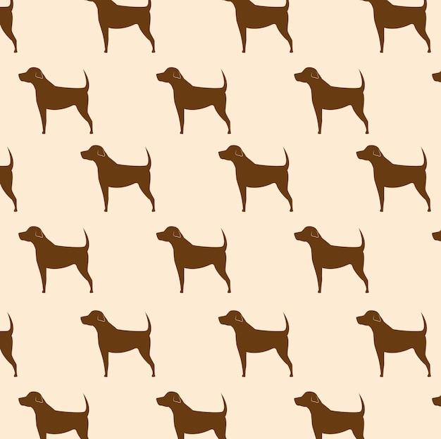 Silhouette dog seamless pattern icon design