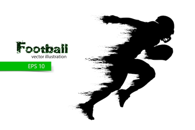 Silhouette of a football player. rugby. american football.  illustration