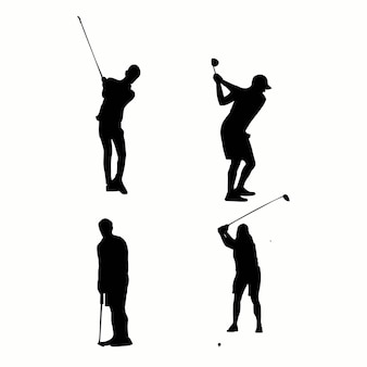 Silhouette of a golf player vector illustration