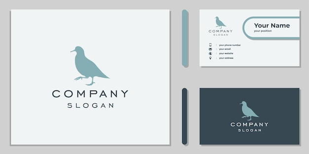 Silhouette grouse logo for company