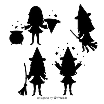 Silhouette halloween witch