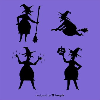 Silhouette of a halloween witch