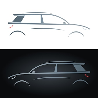 Silhouette of a hatchback
