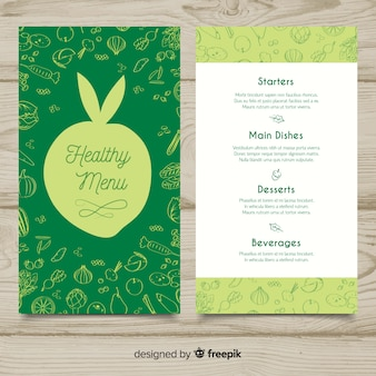 Silhouette healthy menu template