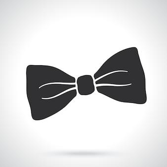 Silhouette of hipster retro bow tie vintage elegant bowtie vector illustration