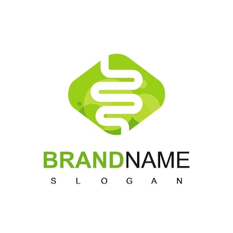 Silhouette intestine logo, for health care or medicine company
