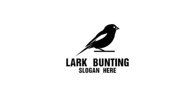 Silhouette lark bunting logo design template
