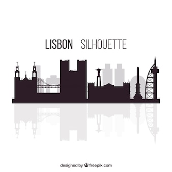 Silhouette of lisbon