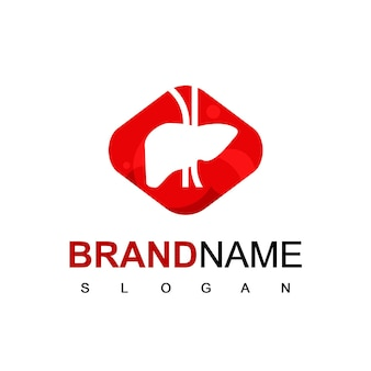 Silhouette liver logo design vector