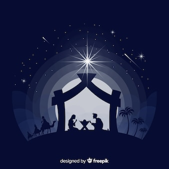 Silhouette nativity background