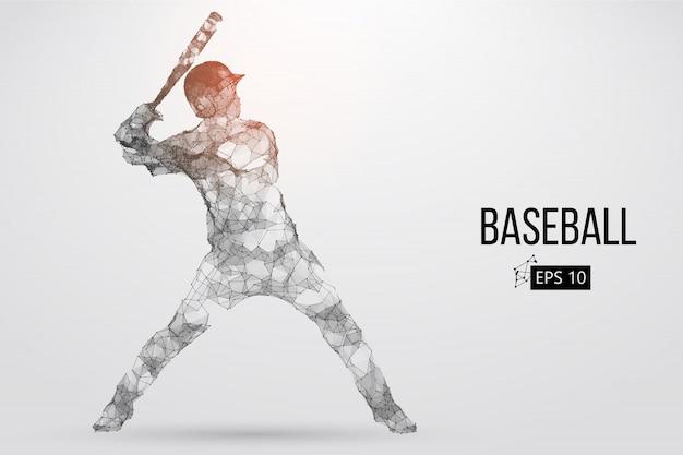 野球選手のシルエット。ベクトルイラスト