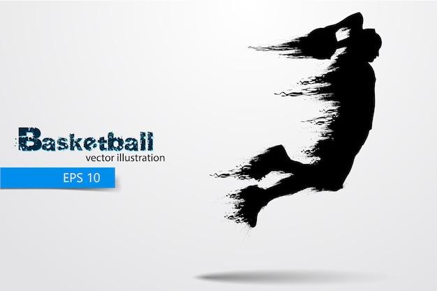 농구 선수의 실루엣입니다. 삽화
