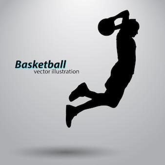 농구 선수의 실루엣입니다.