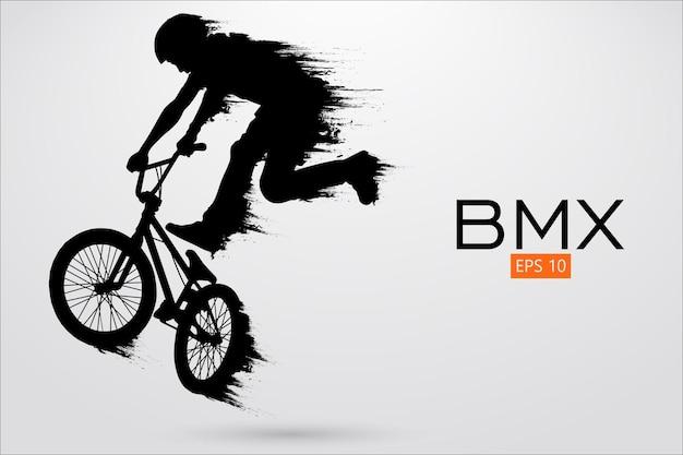 Bmx 라이더의 실루엣