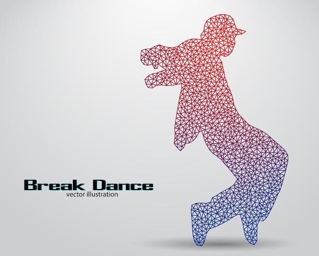 Силуэт танцора брейк-данса