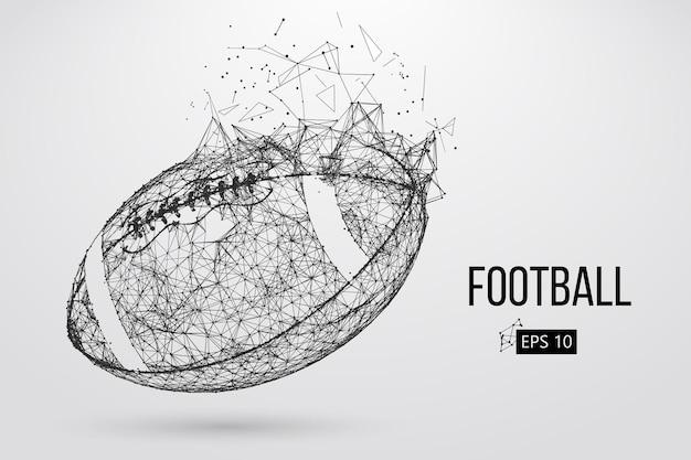 フットボールのボールのシルエット