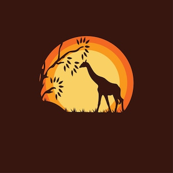 Силуэт жирафа