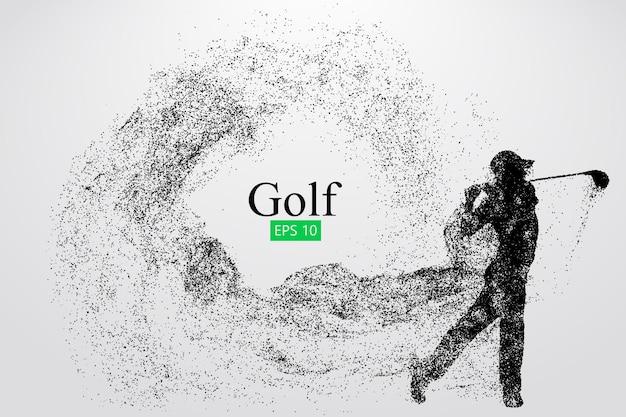 ゴルフ選手のシルエット