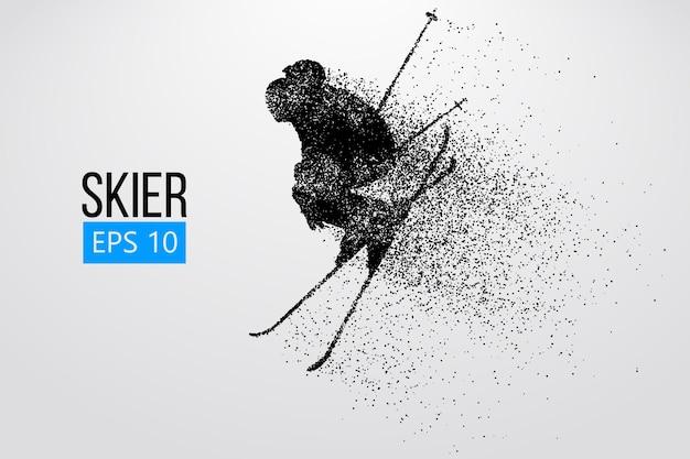 Силуэт лыжника