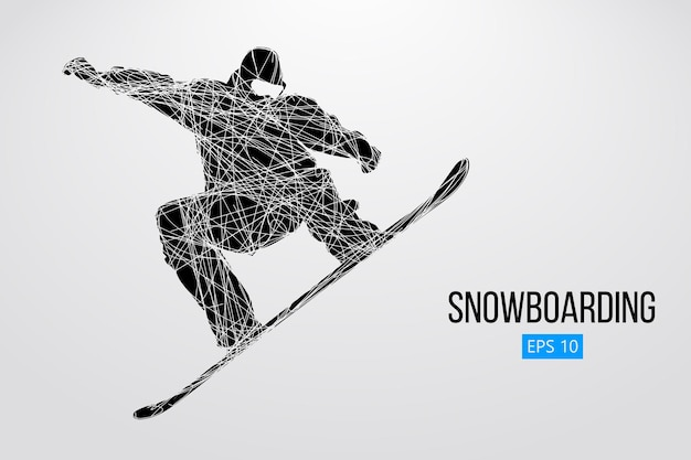 Силуэт сноубордиста