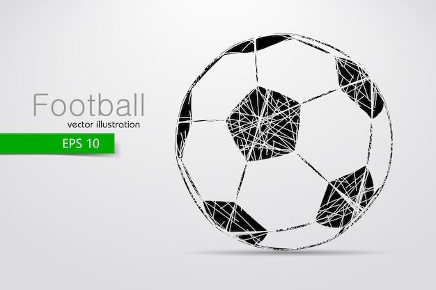 Силуэт футбольного мяча иллюстрации