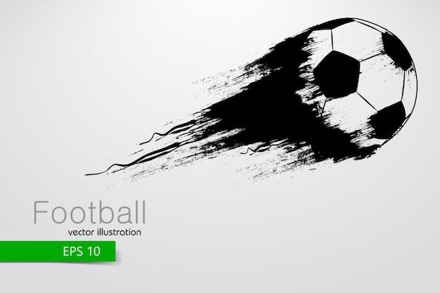 Силуэт футбольного мяча