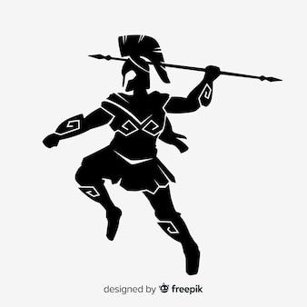 Силуэт спартанского воина